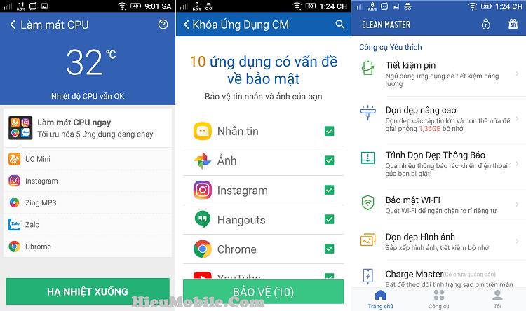 Hình ảnh JIWSgRc của Tải Clean Master - Ứng dụng cải thiện hiệu suất điện thoại Android tại HieuMobile