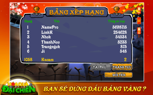 Hình ảnh trong game Hoa Quả Đại Chiến - Trồng cây bắn ma Việt Nam tại HieuMobile