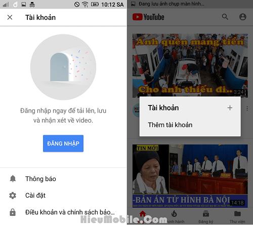 Khắc phục lỗi đăng nhập tài khoản vào ứng dụng Youtube Red/Vanced