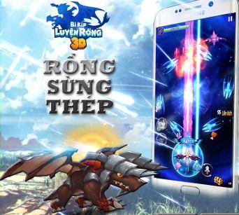 Rồng Sừng Thép trong Bí Kíp Luyện Rồng 3D Mobile