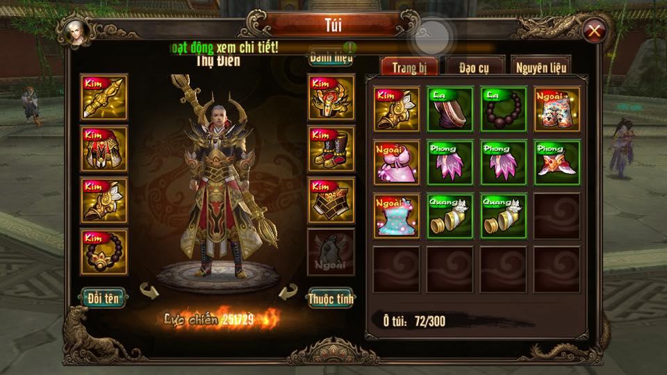 Thong tin nhan vat hoanh trang cua game Kungfu Chi Vuong