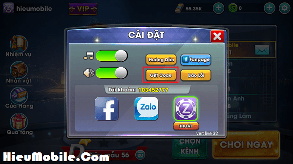 Hình ảnh Laz4Y5j của Hướng dẫn nhận và sử dụng 500 giftcode game Cờ Cá Ngựa ZingPlay tại HieuMobile