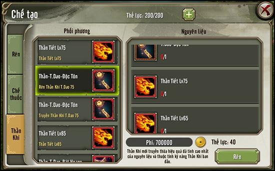 Tính năng Thần Khí từ phiên bản Đại Hội Võ Lâm của game Thiên Long Bát Bộ 3D