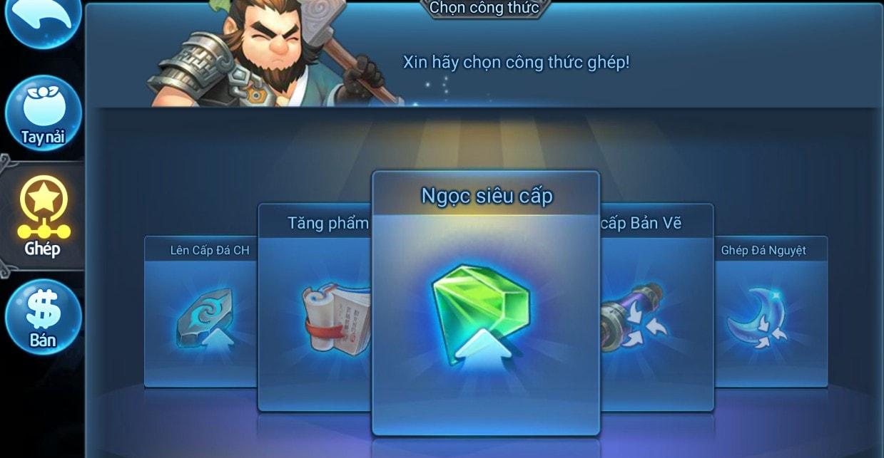 Ghép Ngọc trong game Thiên Hạ Garena