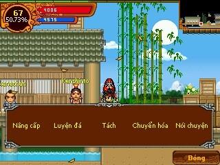 Tìm NPC Kenshino đối thoại chọn Nâng Cấp