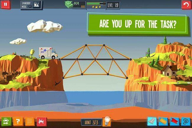 Sử dụng 4 nguyên liệu trong game để xây cầu