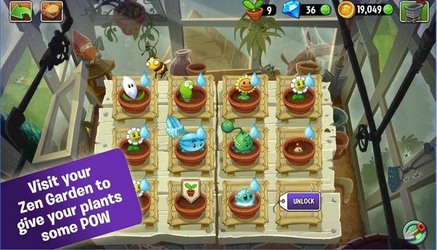 Với nhiều màn chơi và nhiều loại cây hấp dẫn đầy gay cấn - Tải Game Plants vs Zombies 2