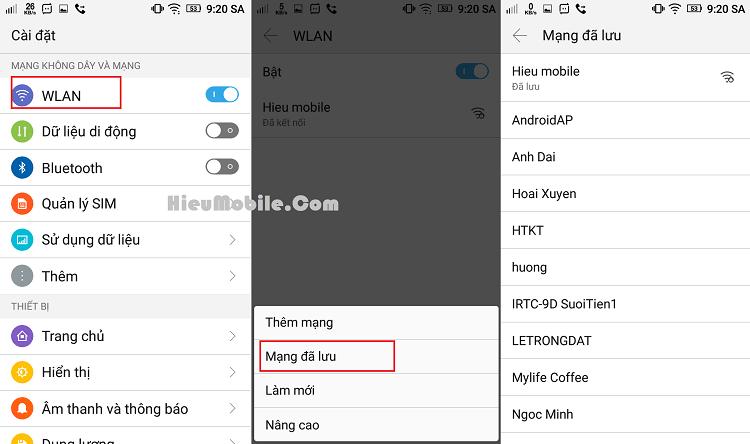 Hình ảnh N1jEDel của Xem toàn bộ Wifi đã lưu trên điện thoại Android không cần ROOT tại HieuMobile