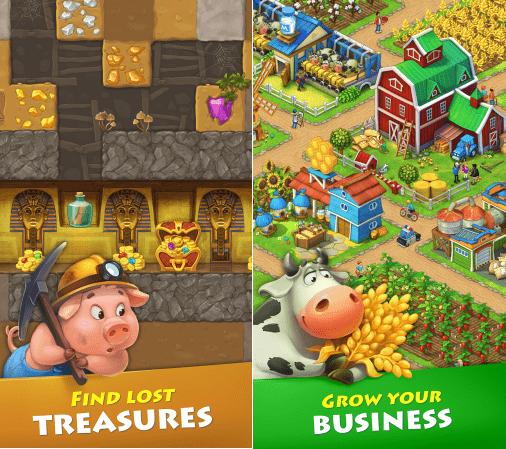 Hình ảnh trong game Township - Xây dựng thành phố nông nghiệp