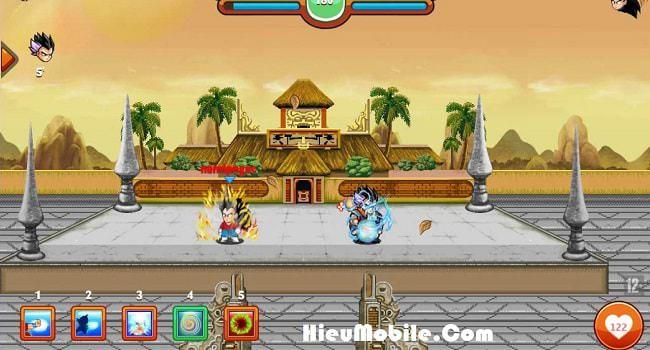 Một trận đấu sắp bắt đầu trên Đại Hội Võ Thuật game Ngọc Rồng Online