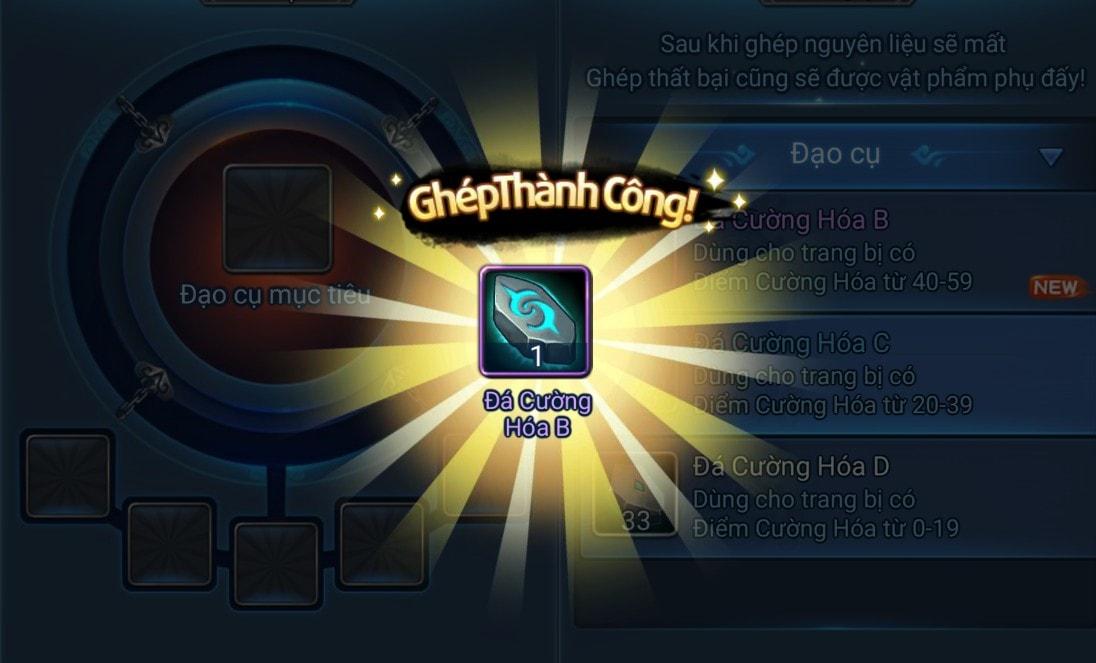 Nâng cấp Đá Cường Hóa trong game Thiên Hạ Garena
