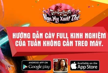 Cay kinh nghiem max cho game Thien Long Bat Bo 3D Mobile