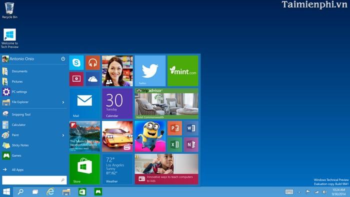 Những tính năng mới có trong Windows 10
