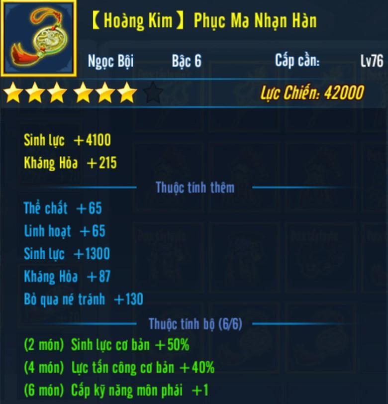 Hình ảnh của Chi tiết về Trang Bị Hoàng Kim trong Võ Lâm Truyền Kỳ Mobile tại HieuMobile