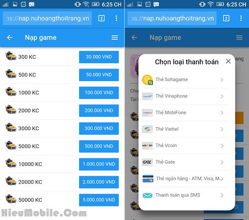 Hình ảnh OmUfTup của Nạp thẻ mua Kim Cương game The Queen thế nào cho tiết kiệm ? tại HieuMobile