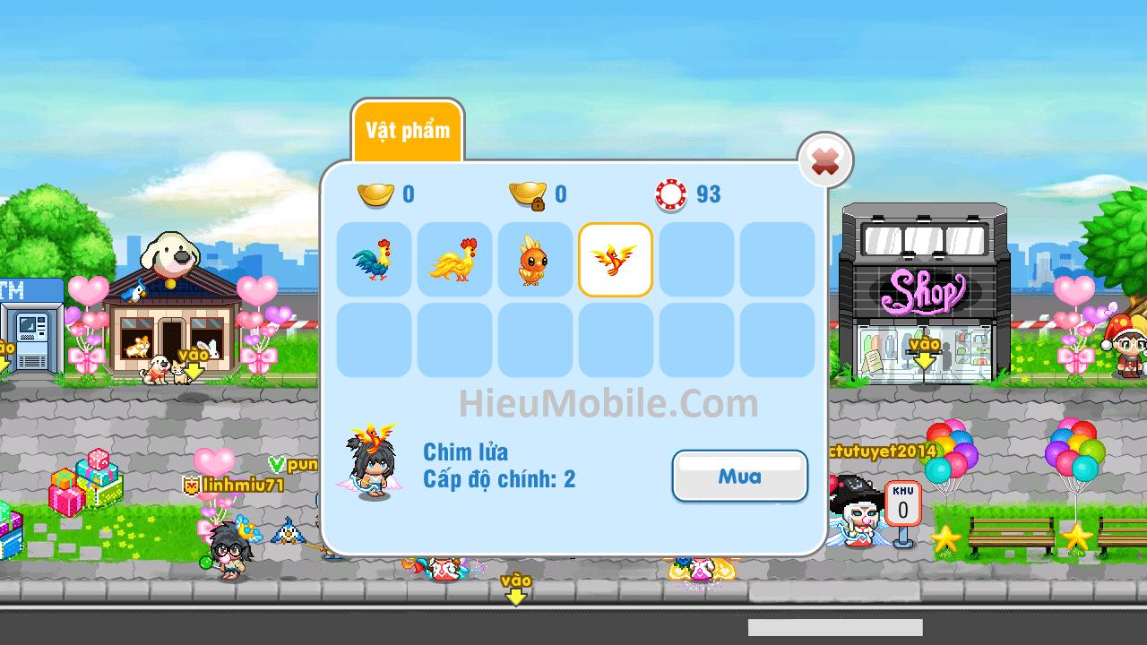 Hình ảnh OoqW7oi của Avatar 2D mở nâng cấp pet gà Hei Hei thành Chim Lửa tại HieuMobile