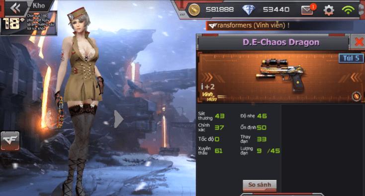 Hình ảnh P3keWfv của Giới thiệu vũ khí D.E Chaos Dragon trong game Crossfire Legends tại HieuMobile