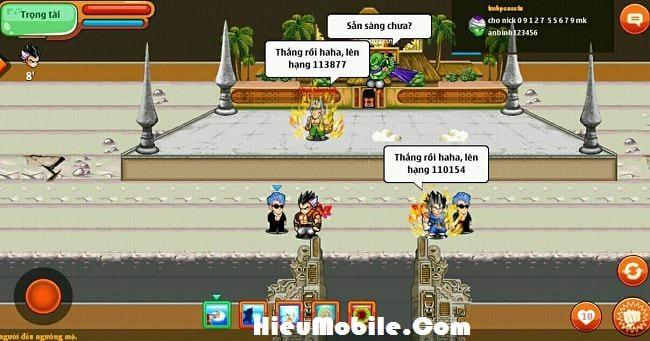 Hình ảnh P3pINnK của Thông tin về Võ Đài Siêu Hạng trong game Ngọc Rồng Online tại HieuMobile