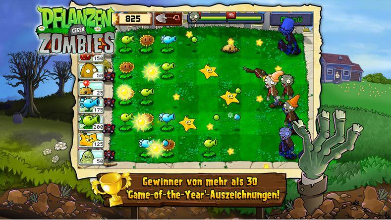 Hình ảnh trong phiên bản 1 - Plants Vs Zombies cây đậu bắn thây ma