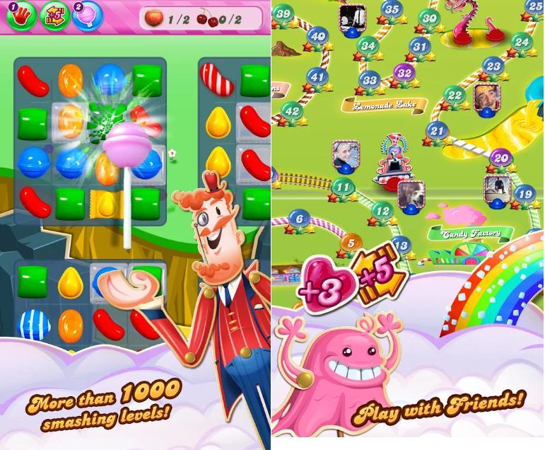 Hình ảnh của game Candy Crush Saga tại HieuMobile