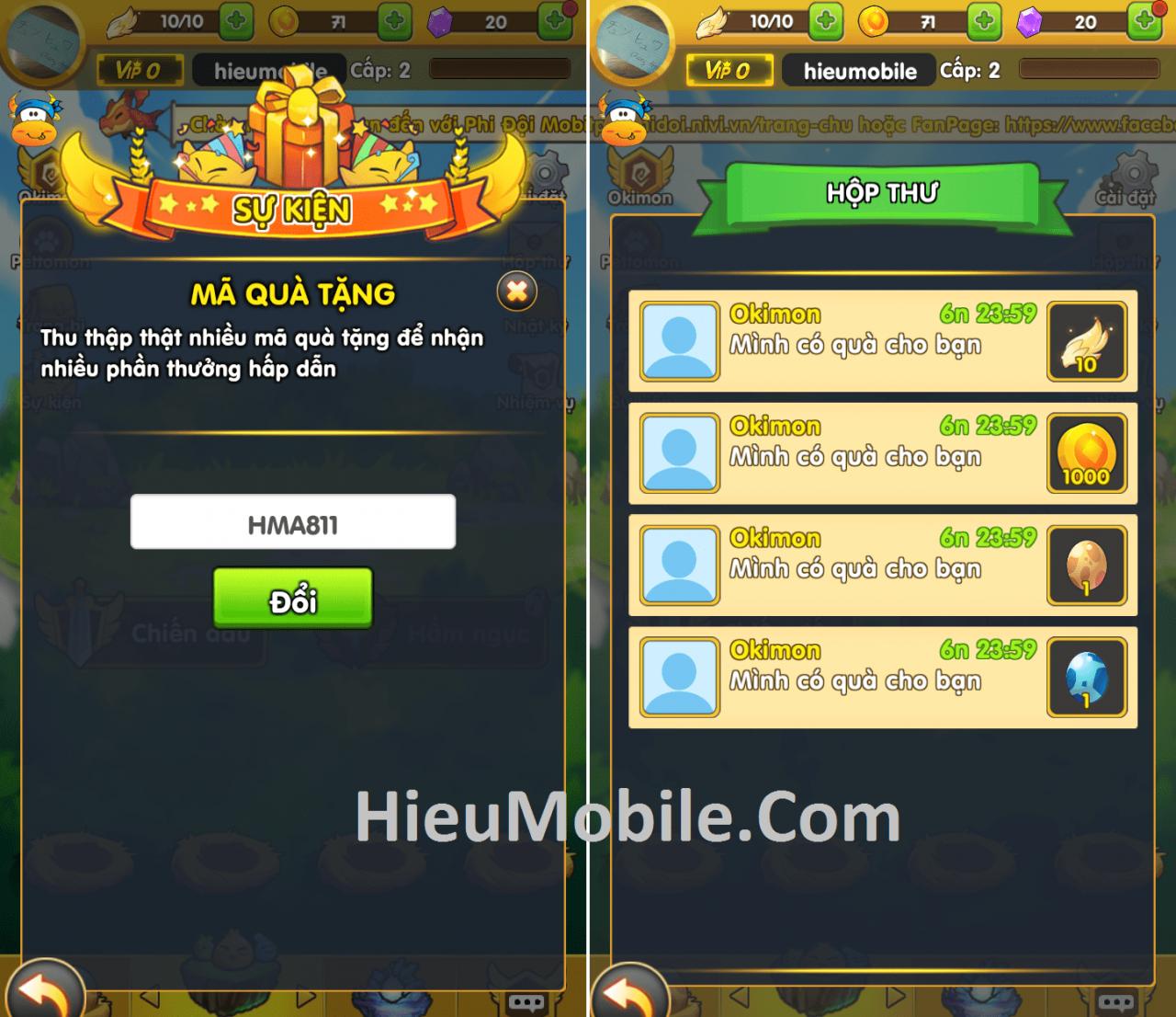 Hình ảnh QlVTqbk của Hướng dẫn nhận và sử dụng giftcode Phi Đội Mobile tại HieuMobile