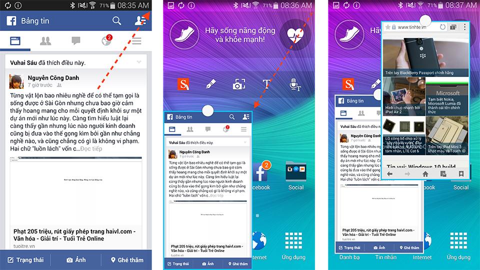 Hướng dẫn và những kiểu chạy đa nhiệm trên Samsung Galaxy Note 4