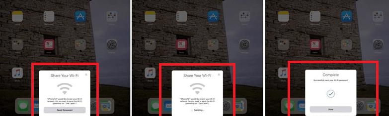 Hình ảnh RF58DMK của iOs 11 có cả tính năng kết nối Wifi không cần mật khẩu tại HieuMobile