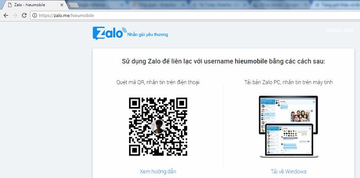 Username còn được dùng thay thế số điện thoại khi ai đó muốn biết trang cá nhân của bạn