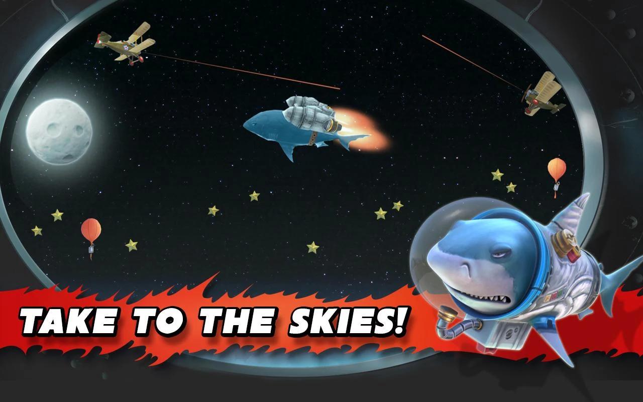 Nội dung viễn tường Hungry Shark Evolution - Cá mập gắn tên lửa bay lên vũ trụ