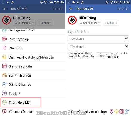 Hình ảnh T6oKadb của Hướng dẫn đặt câu hỏi - tạo khảo sát trên trang cá nhân Facebook tại HieuMobile
