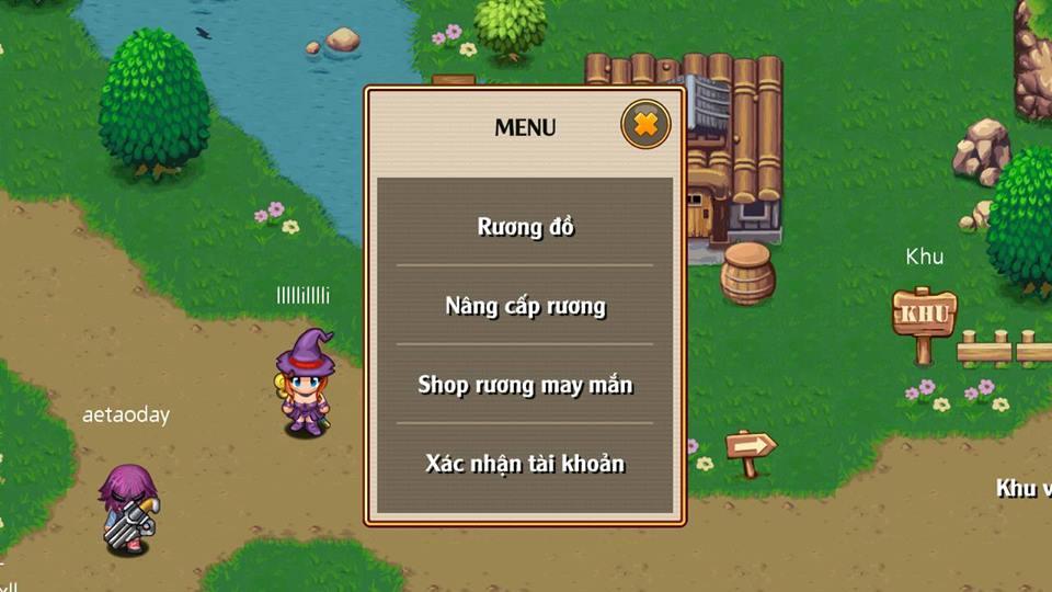 Xac nhan thong tin nhan vat Thoi Dai Hiep Si Online