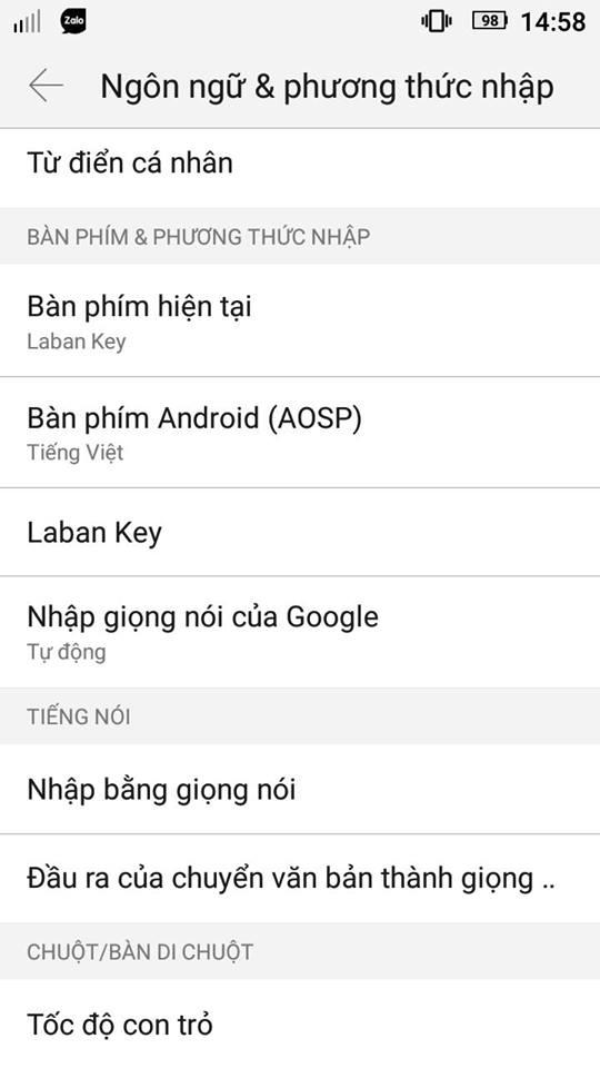 Cách gõ viết Tiếng Việt trên điện thoại Android