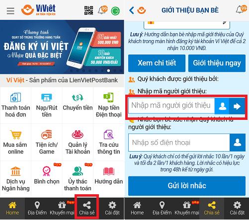 Hình ảnh UCdPLh1 của Cách thay đổi và sử dụng mã giới thiệu của tài khoản Ví Việt tại HieuMobile