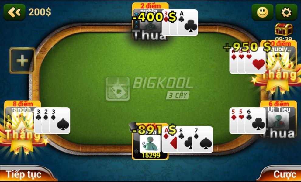 Xòe bài và chiến thắng trong 1 giây - Game đánh bài BigKool