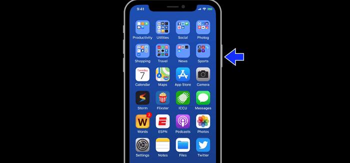 Vị trí thiết kế của nút nguồn trên iPhone X
