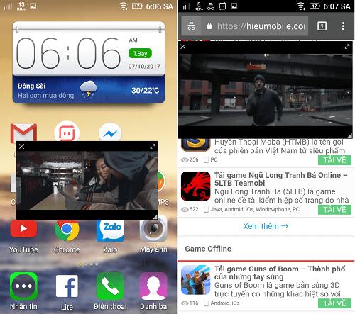 Hình ảnh VOGw34o của UcWeb thêm tính năng mini screen khi xem video bất cứ đâu tại HieuMobile