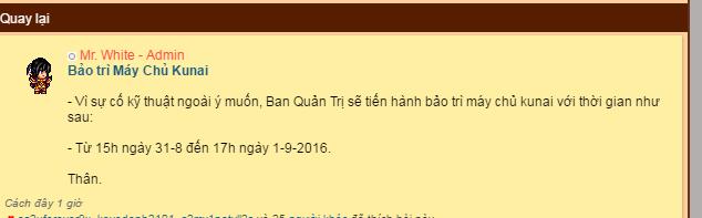 may chu sv4 Kunai cua Ninja School Online bao tri ngay si trung thu 2016