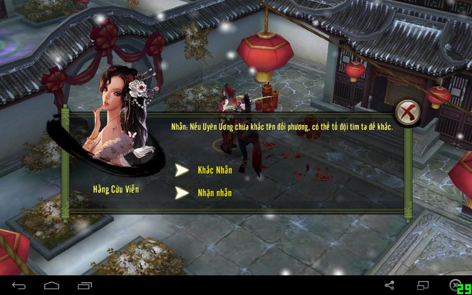 Khắc và nhận lại nhẫn trong tính năng kết hôn game Thiên Long Bát Bộ