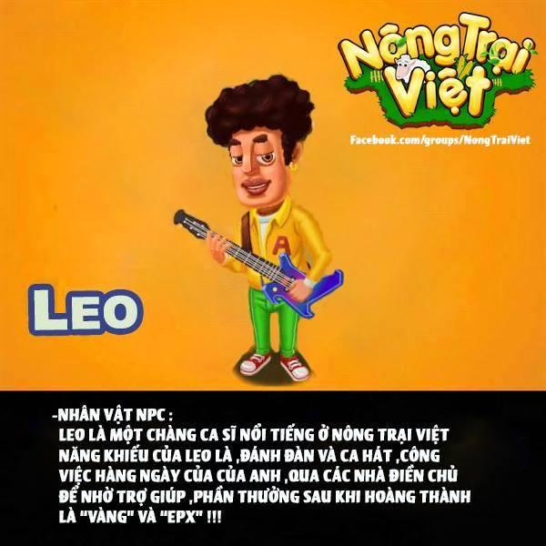 Ca sĩ LEO - là NPC của Nông Trại Việt