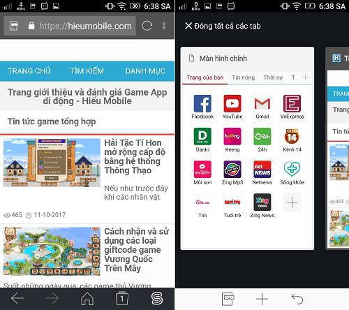 Hình ảnh WGWaLYc của Tải Sfive Browser - Đọc tin miễn phí cho thuê bao Viettel tại HieuMobile