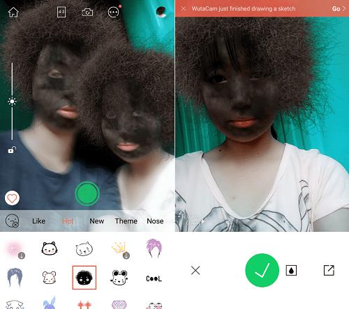 Hình ảnh XEfJPm9 của Cách chụp ảnh mặt tóc cháy khét đen thui hài hước bằng WutaCam tại HieuMobile