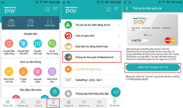 Hình ảnh XUnqlyP của Hướng dẫn tạo thẻ tín dụng Mastercard ảo miễn phí bằng ViettelPay tại HieuMobile