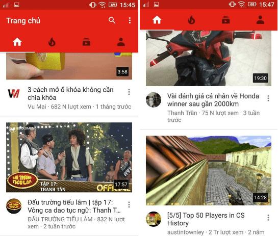 Hình ảnh trong ứng dụng Youtube - Xem video trên điện thoại