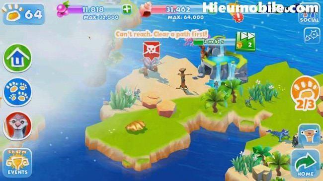 Hình ảnh XvCYVFV của Tải game Ice Age Adventures - Quản lý vườn thú kỷ băng hà tại HieuMobile