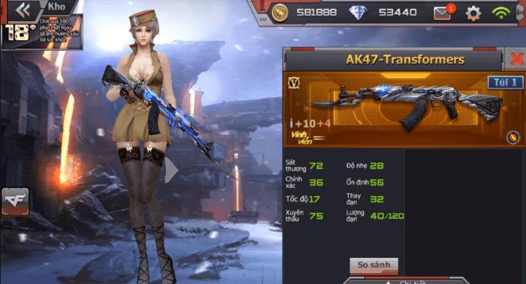 Hình ảnh XxbVeul của Giới thiệu vũ khí VIP AK47 Transformer trong game Crossfire Legends tại HieuMobile
