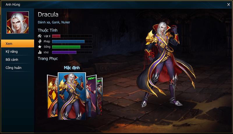 Hình ảnh ZDYbaUa của Đánh giá Dracula - Con tướng tốt dễ chơi nhất trong Huyền Thoại Moba tại HieuMobile