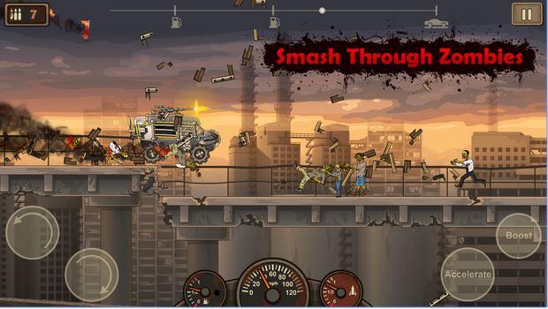 Nhấn ga để dẹp lũ Zombie mang lại hoà bình thế giới - Tải Game Earn to Die 2