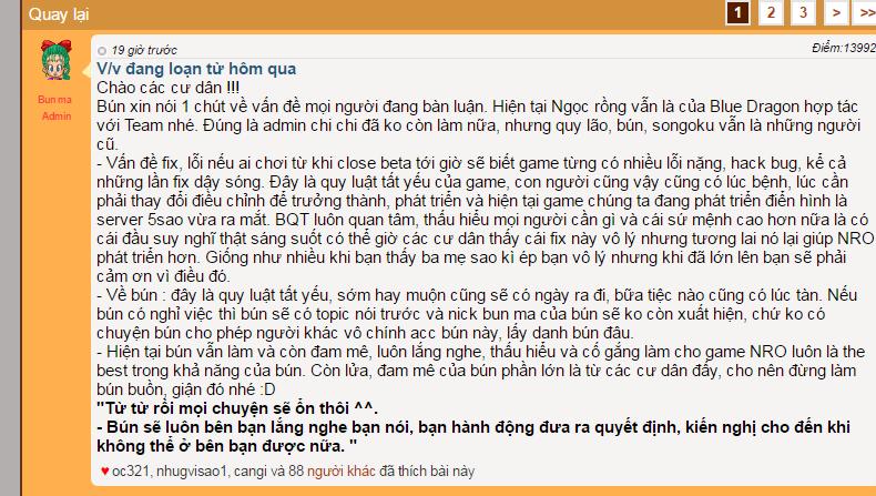 Ngoc Rong Online lau