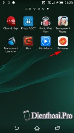 Tải và cài đặt BChrome cho điện thoại Android