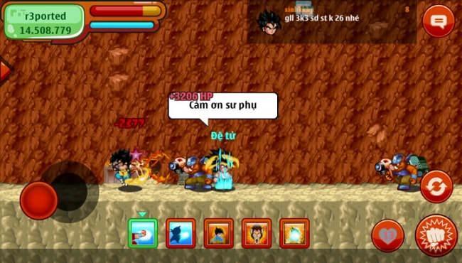Bên trong Đảo Kho Báu trong game Ngọc Rồng Online